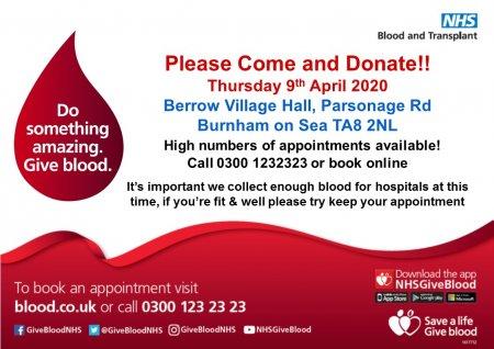 Burnham-on-Sea Blood Donation