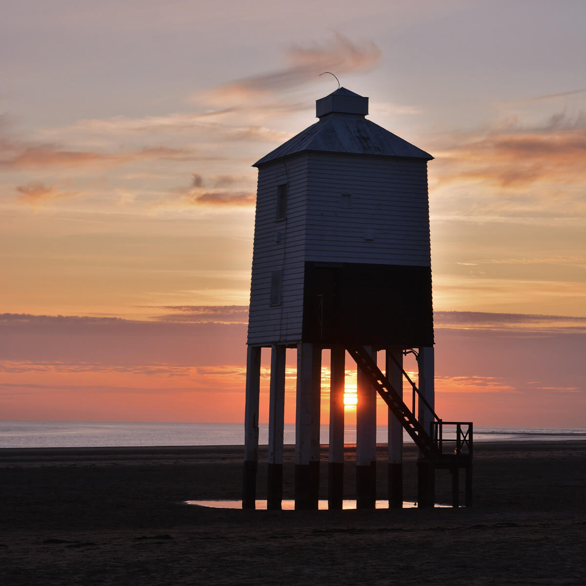 Burnham-on-Sea Lighthouse at Sunset