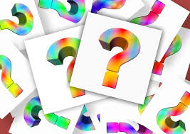 Question Marks in rainbow colours