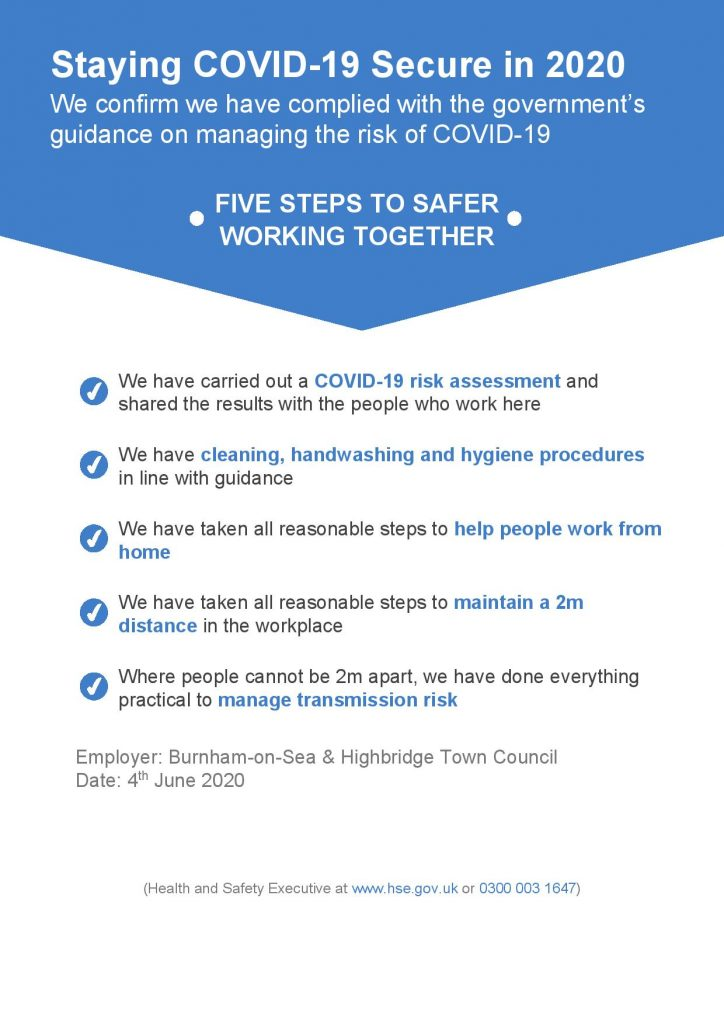 Staying Covid-19 Secure Poster