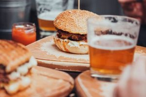 Image of Burger, sandwich and drink