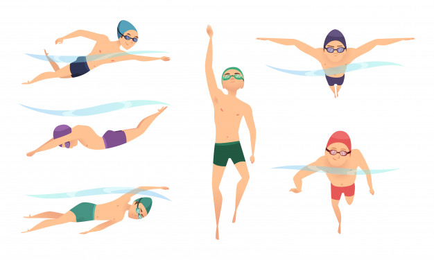 images of swimmers